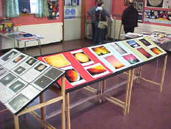 Central display of astronomical images
